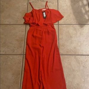 Nasty Gal Pants & Jumpsuits - NEVER WORN Red jumpsuit